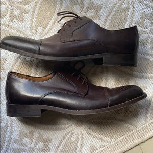 Tasso Elba Men's Brown Antonio Cap Toe size 11